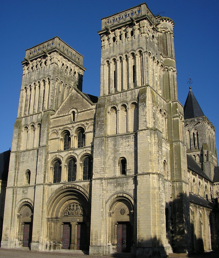 The convent at Caen constructed by William in the eleventh century. It inspired many later Norman Buildings in England after the Conquest.