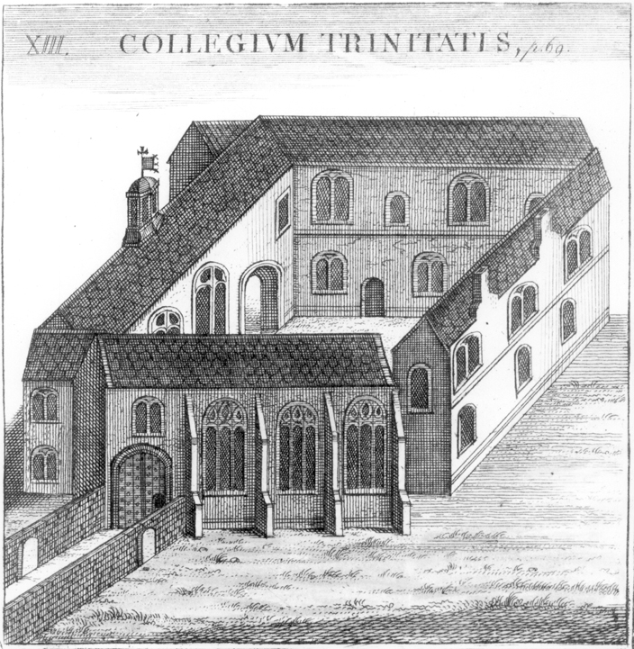 Durham College, drawn in the 17th century, from an album produced on the occasion of the visit of Queen Elizabeth I to Oxford.