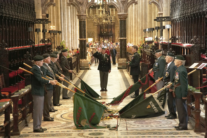 A DLI Colours Service in the Cathedral Quire.