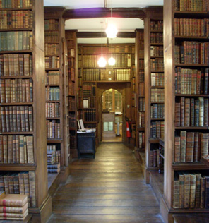 Contemporary view of the Old Library at Trinity College, Oxford, the only remaining building from Durham College.
