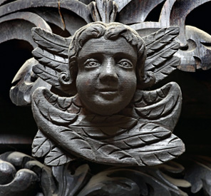 Detail of Cathedral woodwork dating from the seventeenth century.