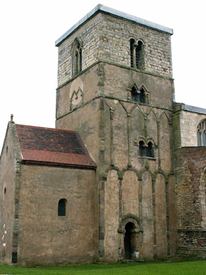The Anglo-Saxon Great Church may have looked something like this building, St Peter's Church in Barton Upon Humber. St Peter's probably dates from 970 (although the uppermost bit of the tower, with the two round arches, is later).