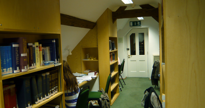 One of the St Chad's College Libraries, this one a recent conversion of the college attics.