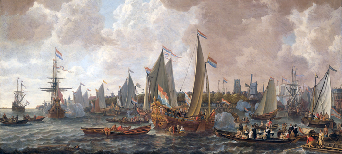 Charles the second returning to England in 1660.