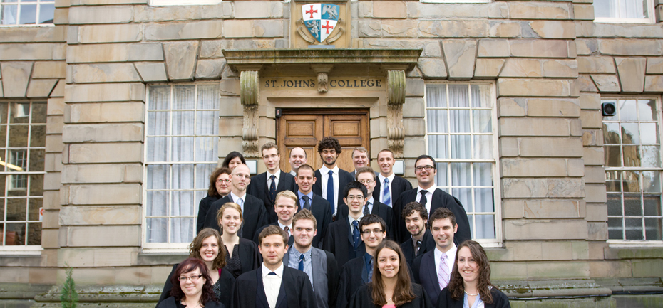 The post-graduate community at St Johns College, 2010, standing in front of the Eden House.