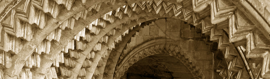 The arches of the Galilee Chapel at Durham Cathedral.