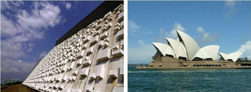 Brasilia, and Sydney Opera House, two modern World Heritage Sites