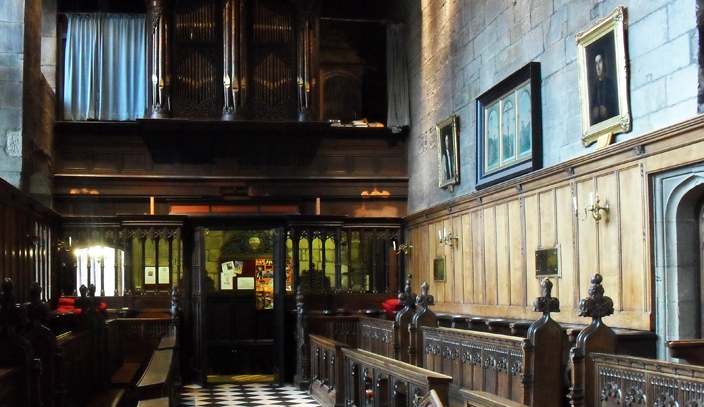 Parts of the Father Smith Organ are now in Durham Castle's Tunstall Chapel,which is used for college services and occasional concerts.