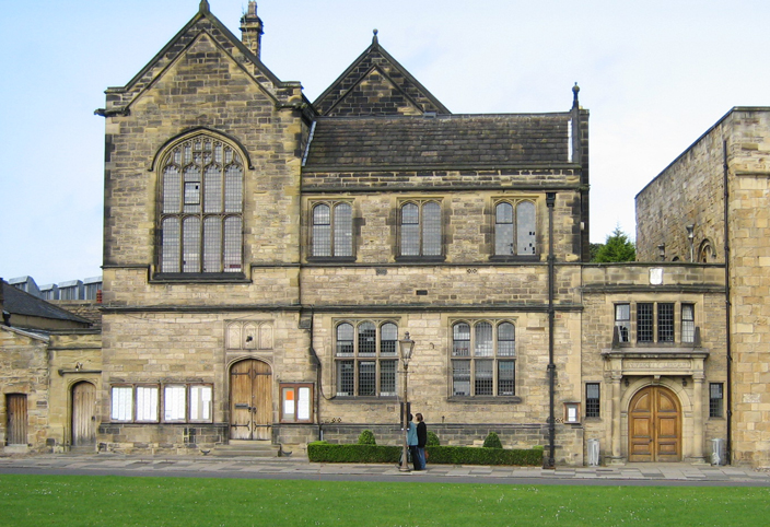 The nineteenth-century building designed as the University Library by Anthony Salvin.