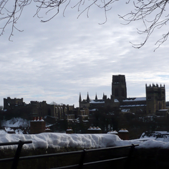 The viewing platform in front of Durham Railway Station offers one of the best panoramic views of the World Heritage Site. From that vantage point, the significance of the Cathedral and Castle as symbols of the Bishops of Durham's dual secular and religious power is very clear.