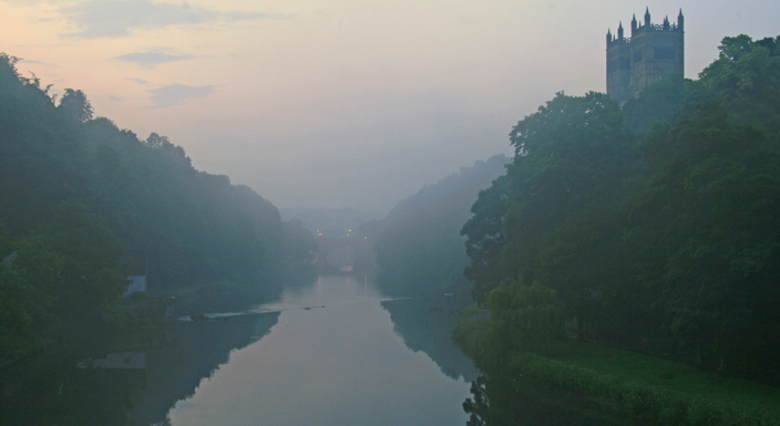 The view looking north from Prebends' Bridge. Compare it to JMW Turner's depiction of the scene, below.