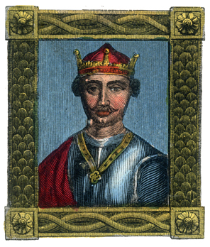 William the Conqueror's importance has meant that he has often been the subject of artists' work. Seen here is one depiction of the Conqueror, probably more the product of artistic license than fact.