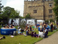 Every year the organisers of Castle Day think of creative ways of making the event memorable: inflatable pools went down well!
