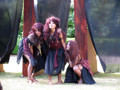 The three witches, from a performance of Macbeth by Castle Theatre Company. Every summer a Shakespeare play is performed in the Fellows Garden. The 2009 and 2010 performances subsequently went on tour in the UK and USA.
