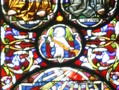 Peter and Paul Window. Inaugurated in 1865, this window is the work of Clayton and Bell of Bristol. It is located in the 13th century chapel of the nine altars, designed, as per the gothic tradition, as an expanse of coloured glass, depicting religious scenes.