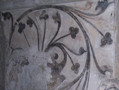 Detail of the 15th century wall painting recently discovered under later layers of paint in the Deanery vestibule, formerly the prior's chapel.