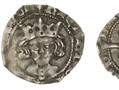 A silver penny issued by Bishop John Shirwood between 1483 and 1485. This was the reign of Richard III. Note the 'S' for Shirwood on the King's chest. Shirwood was the first Durham Bishop to have his initials on his coins.
