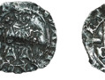 A silver penny issued by Bishop Richard Fox between 1490 and 1509. This was during the reign of Henry VIII. This coin is especially interesting since it shows the Prince-Bishop's emblem - a coronet and mitre, above the shield.