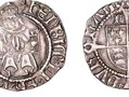 A penny issued by Bishop Thomas Ruthall between 1509 and 1523. This was during the reign of Henry VIII. The Bishop's initials, TD (for Thomas of Durham) can be seen above the shield.