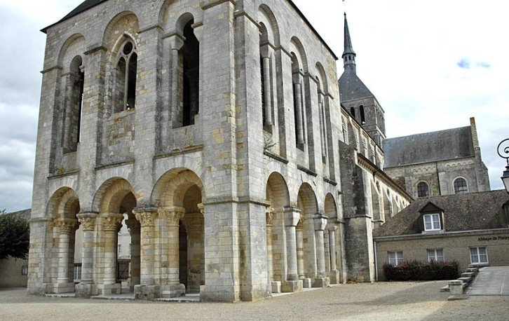 The portico at Fleury Abbey