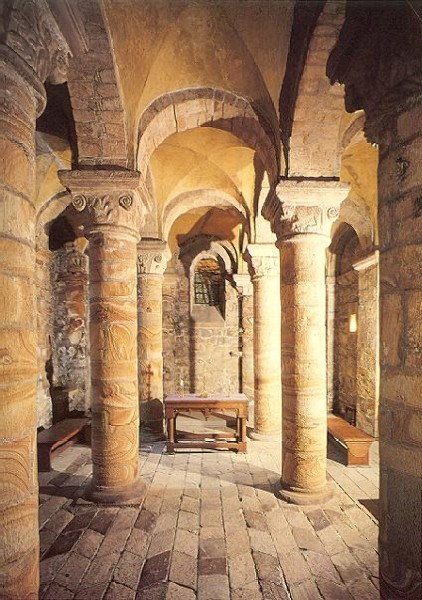 The interior of the Norman Chapel at Durham Castle, circa 1080.