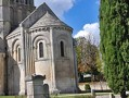 The apse of the Church of St. Pierre, Aulnay, France