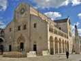 A view of the exterior of Bitonto Cathedral, Puglia, Italy, constructed in the 12th century.