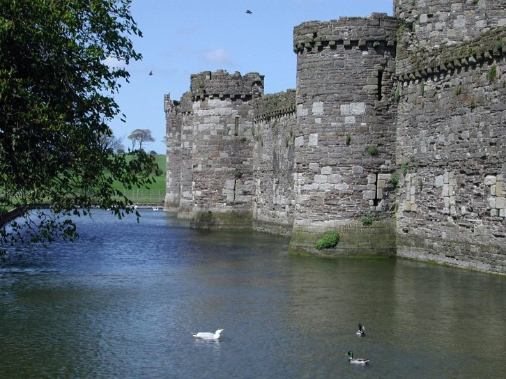 Beaumaris Castle, Wales, one of the Castles of Edward I