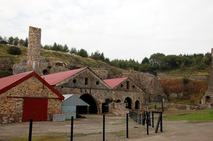 View of the Blaenavon Ironworks