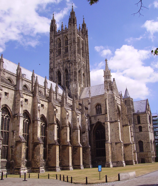 Exterior view of Canterbury Cathedral