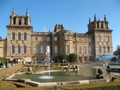 View of Blenheim Palace near Oxford, set in a romantic landscape designed by the renowned 'Capability' Brown