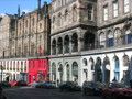 A view of a street in Edinburgh Old Town