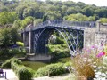 A view of Ironbridge, the world's first iron bridge